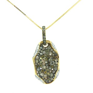 14K Yellow Gold and Diamond Whimsical Pendant