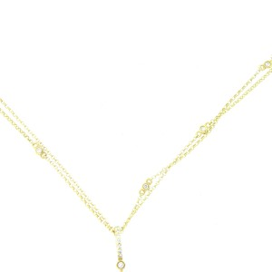 14K Yellow Gold and Diamond Long Oval Necklace