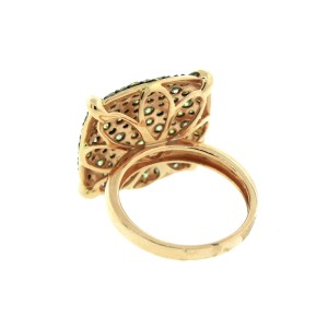 14K Rose Gold Fancy Colored Diamond Ring