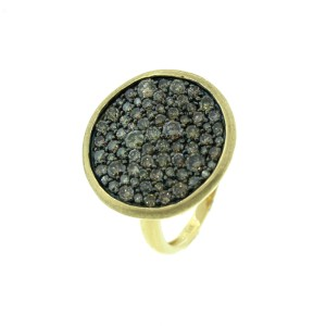 14K Yellow Gold And Champagne Diamond Ring