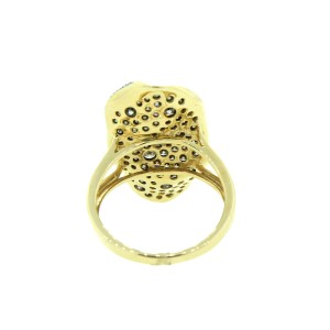 14K Yellow Gold & Champagne Fancy Shape Ring