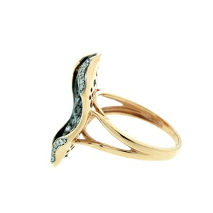 14K Yellow Gold and Champagne Fancy Shape Ring