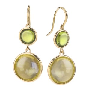 Goshwara Mischief 18k Yellow Gold  Lemon Quartz, Peridot Earrings