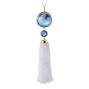 Goshwara Mischief 18k Yellow Gold  Blue Topaz Pendant