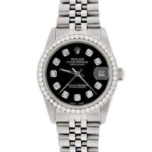 Rolex Datejust 41 Steel Jubilee Bracelet Watch Diamond Bezel/Lugs/Sides/Black Dial