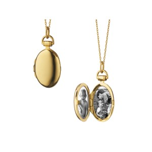 Monica Rich Kosann Yellow Gold Anna Petite Locket