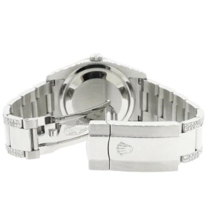 Rolex Datejust 116200 Steel 36mm Watch with 4.5Ct Diamond Bezel/Bracelet/Sky Blue MOP Diamond Dial