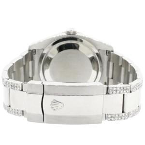 Rolex Datejust 116200 Steel 36mm Watch with 4.5Ct Diamond Bezel/Bracelet/Turquoise Diamond Dial