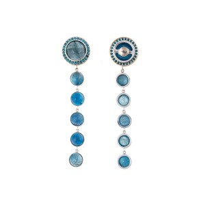 18K White Gold Aquamarine Stena Drop Earrings