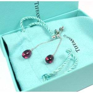 Tiffany & Co. Rainbow 18K White Gold Rubellite Drop Dangle Earrings