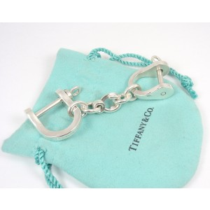 Tiffany & Co. Sterling Silver Double Shackle Valet Keychain