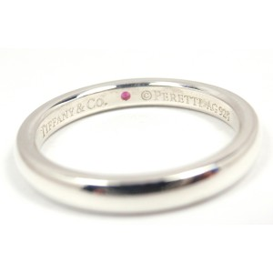 Tiffany & Co. Peretti Sterling Silver Pink Sapphire Stacking Band Ring