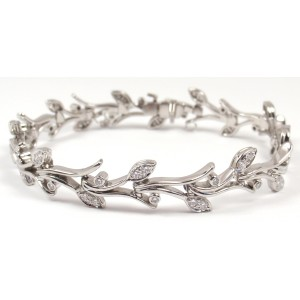 Tiffany & Co. Garland Platinum PT950 Diamond Bracelet