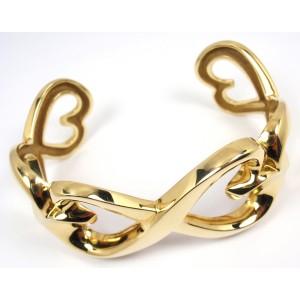 Tiffany & Co. Picasso 18K Gold Double Loving Heart Cuff Bracelet