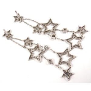 Tiffany & Co. 950 Platinum & Diamond Stars Multi Drop Dangle Earrings