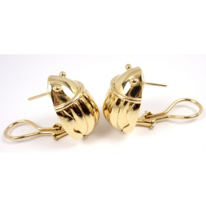 Tiffany & Co. 18K Yellow Gold Scarab Clip On Stud Earrings