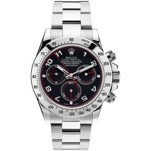 Rolex Pre Owned Steel Daytona 116520 Custom Arabic Racing 40mm Men's Watch
