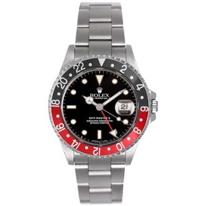 Rolex GMT-Master II Black/Red 16710 40mm Men's Watch