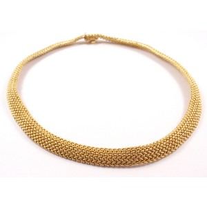 Tiffany Co. 18K Gold Somerset Mesh Chocker Necklace