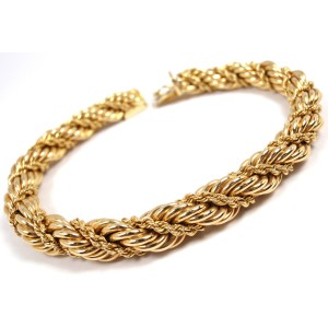 Tiffany & Co. 14K Yellow Gold Wide Rope Bracelet