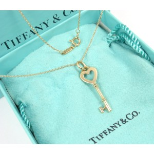 Tiffany & Co. 18K Yellow Gold Pendant Chain Necklace