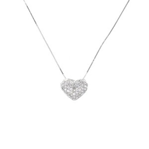Espresso Diamond Heart Pendant
