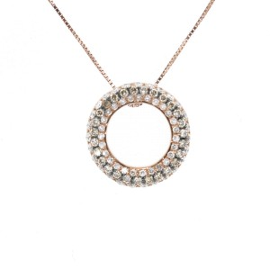 "Espresso ""Circle of life"" Pendant Necklace"
