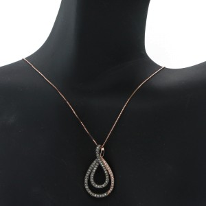 Espresso Overlaping Tear Drop Necklace