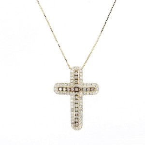 Espresso Diamond Cross Pendant