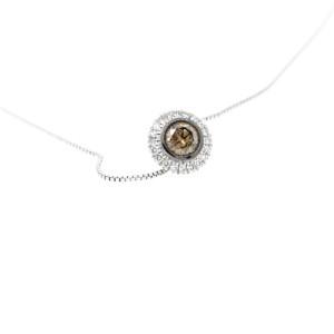 Espresso Solitaire Champagne Diamond Necklace