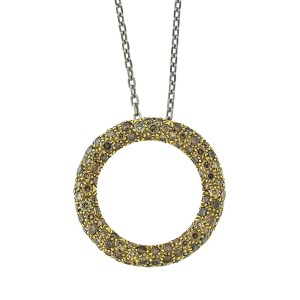 Roberto Coin 18k Contemporary Fancy Color Diamond Necklace