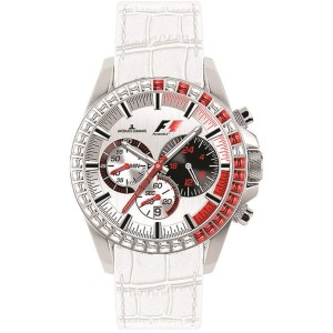 Jacques Lemans PF5006T Red and White Swarovski Crystals Formula One Watch
