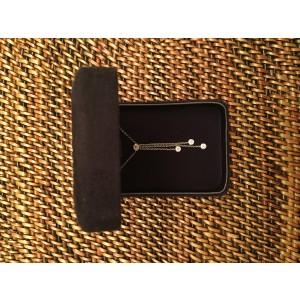 Tiffany & Co. Platinum Jazz Triple Diamond Drop Pendant Necklace