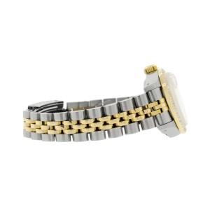 Rolex Datejust Ladies 2-Tone 18K Gold/SS 26mm Watch with Pastel Blue Dial & Diamond Bezel