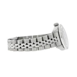 Rolex Datejust Ladies 26MM Automatic Steel Watch w/Imperial Red Dial & Diamond Bezel