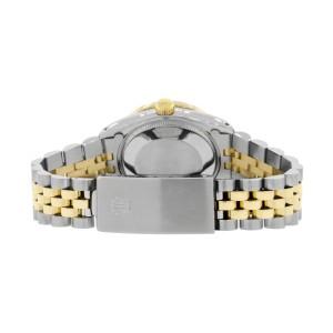 Rolex Datejust 2-Tone 18K Gold/SS Midsize 31mm Womens Watch with Pink MOP Dial & Diamond Bezel