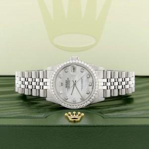 Rolex Datejust Midsize 31MM Automatic Steel Women's Watch w/MOP Diamond Dial & Bezel
