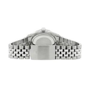 Rolex Datejust 36MM Automatic Stainless Steel Watch w/MOP Roman Dial & Diamond Bezel