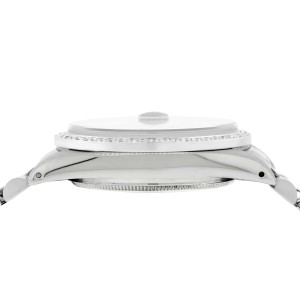 Rolex Datejust 36MM Automatic Stainless Steel Watch w/Flower Dial & Diamond Bezel