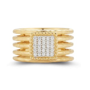 I. Reiss R2557Y 14k Yellow Gold diamonds0.15 H-SI Diamonds Rings
