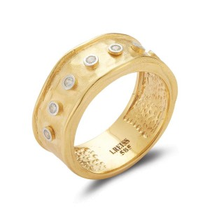 I. Reiss R2562Y 14k Yellow Gold diamonds0.11 H-SI Diamonds Rings