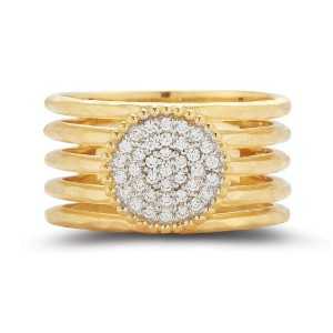 I. Reiss R2566Y 14k Yellow Gold diamonds0.22 H-SI Diamonds Rings