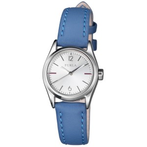 Furla Women's Eva Silver Dial Calfskin Leather Watch