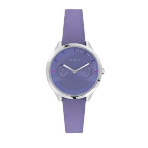 Furla Women's Metropolis Lillac  Dial Calfskin Leather Watch