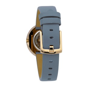 Furla Women's Valentina Light Blue Dial Calfskin Leather Watch