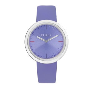 Furla Women's Valentina Lillac Dial Calfskin Leather Watch