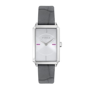 Furla Women's Diana Silver Dial Calfskin Leather Watch