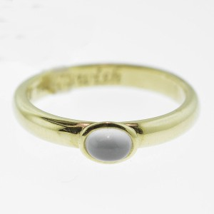 Monica Rich Kosann Yellow Gold Moonstone Posey Ring