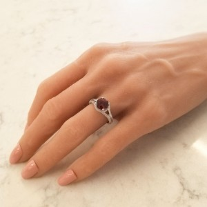 2.35 Carat Spessartite Garnet with Diamond Cocktail Ring