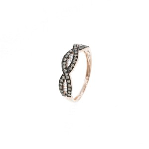 Espresso Rose Gold Braid Ring
